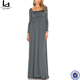 factory no stock jersey knitted long sleeve one-piece Maxi Dress
