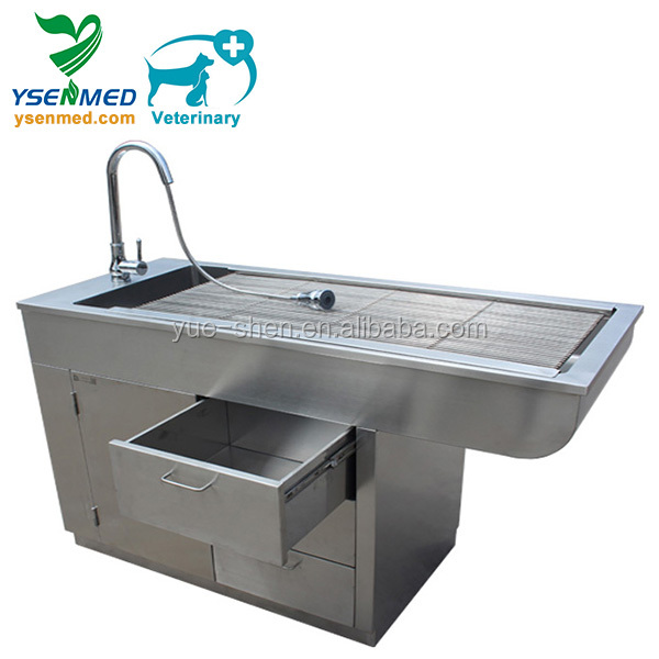 YSVET0508 Stainless vet grooming table High quality stainless pet grooming tub