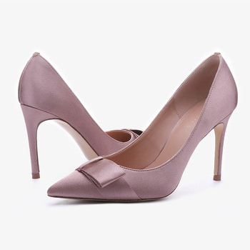 2019 Fashion Women Pumps Shoes Pointed Toe Comfortable Ladies 10CM High Heeled Dress Shoes