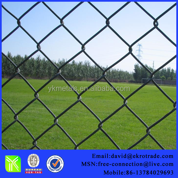 Galvanized & PVC Coated Chain Link Fence