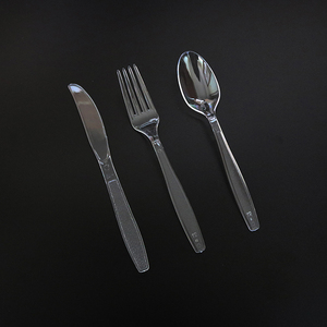 Heavy-duty PS disposable plastic cutlery portable knife fork spoon