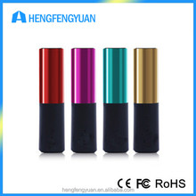 Promotional Custom Power Bank Lipstick PowerBank Charger 2600mAh For Gift