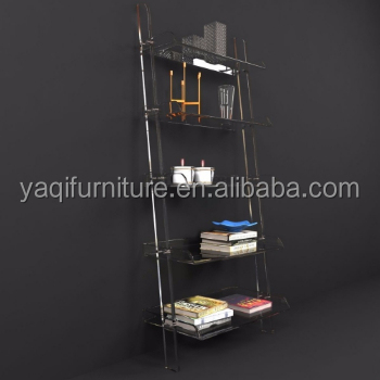 clear acrylic book shelf
