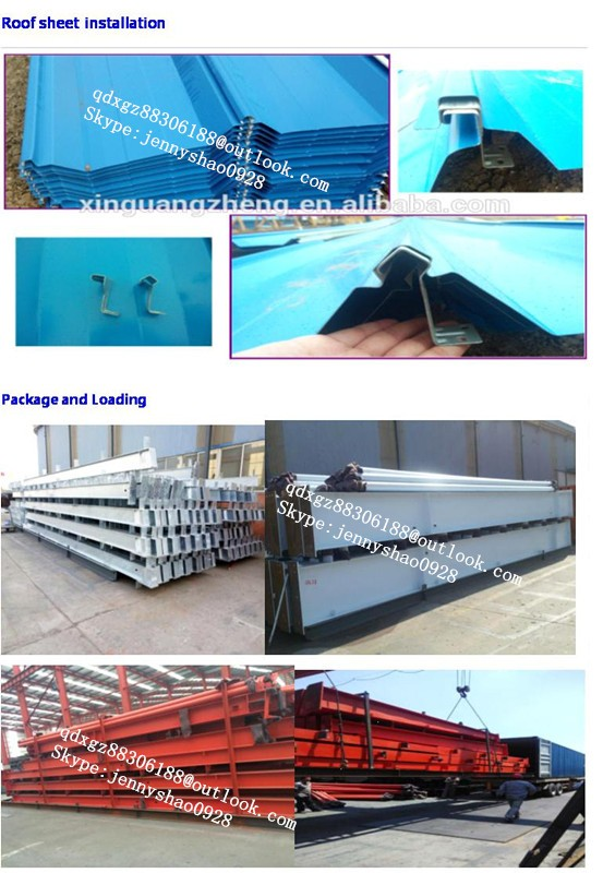 low cost heavy metal prefabricated shed in kit