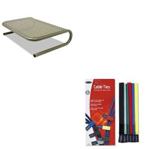 KITASP27021BLKF8B024 - Value Kit - Belkin Multicolored Cable Ties (BLKF8B024) and Allsop Metal Art Jr. Monitor Stand (ASP27021)