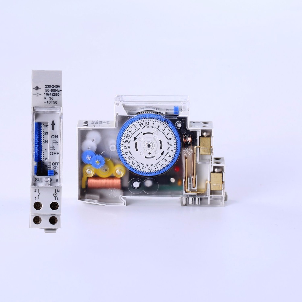 SUL180a 15 Minutes Mechanical Timer 24 Hours count timer Switch Programmable Din Rail Timers Measurement Analysis Instruments