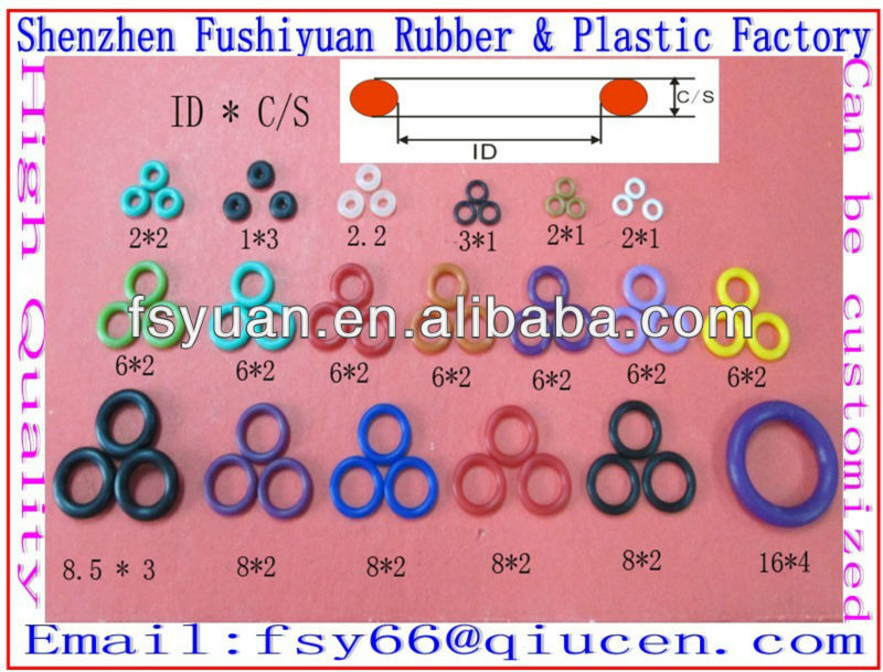 Silicone Rubber O Rings Nr Cr Nbr Epdm O Rings Oil Seal Rings - Buy ...