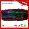 2016 Latest Multimedia colored computer Keyboard gaming Backlit game Keyboards