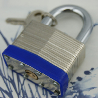 Galvanized surface 38mm laminated padlock, Stable quality professional supplier laminated padlocks