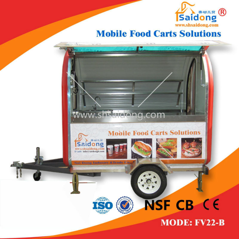 Top China supply 100% perfect design mobile food kiosk catering trailer,food carts with cheap price
