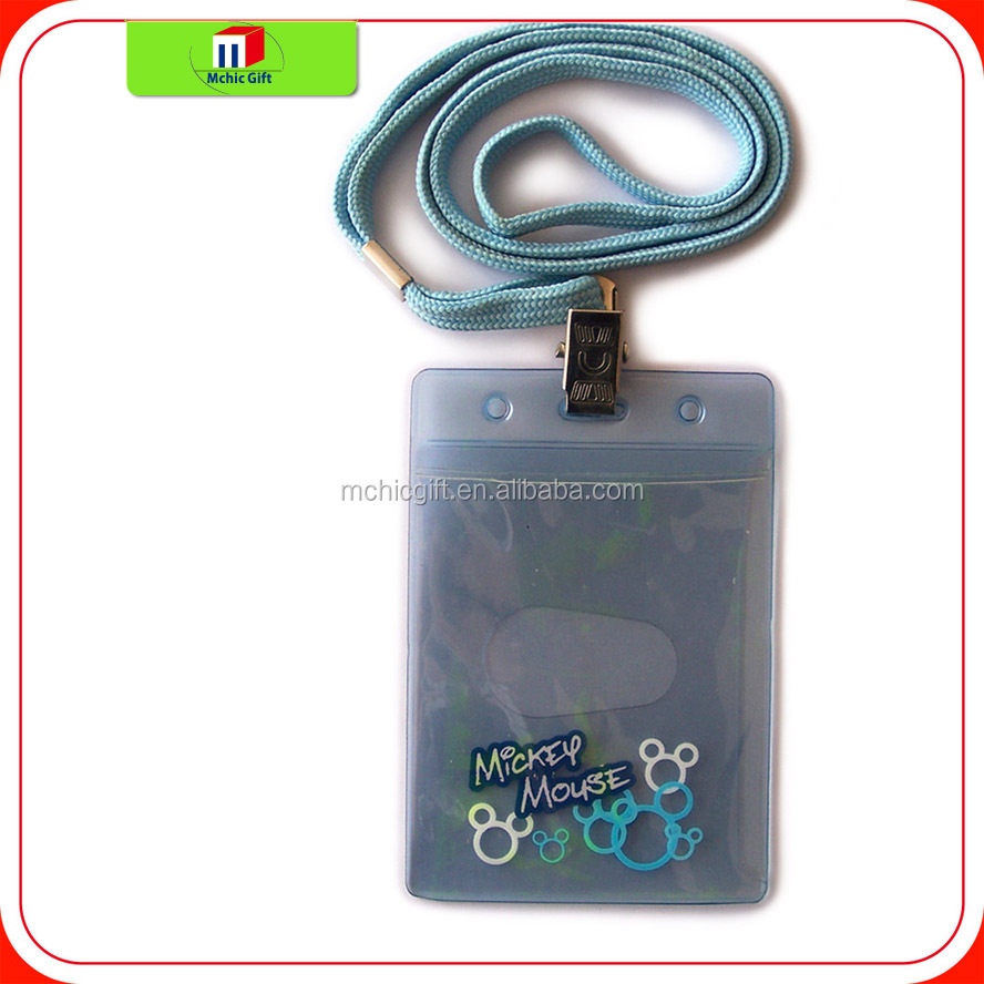 New brand id card holder neck rope/id card holder binder with great price