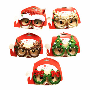 Party decoration gift plastic novelty christmas glasses christmas decoration items