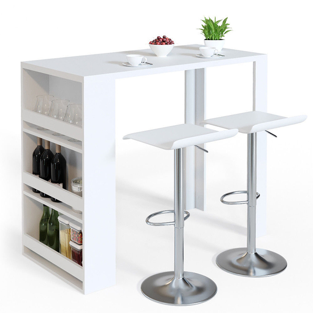 Kitchen Breakfast Bar Table Dining Table Coffee Table With Storage Rack Buy Bar Table Kitchen Bar Table Kitchen Dining Table Product On Alibaba Com