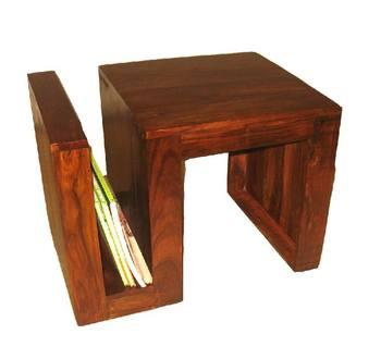 Wooden Coffee Table Magazine Rack