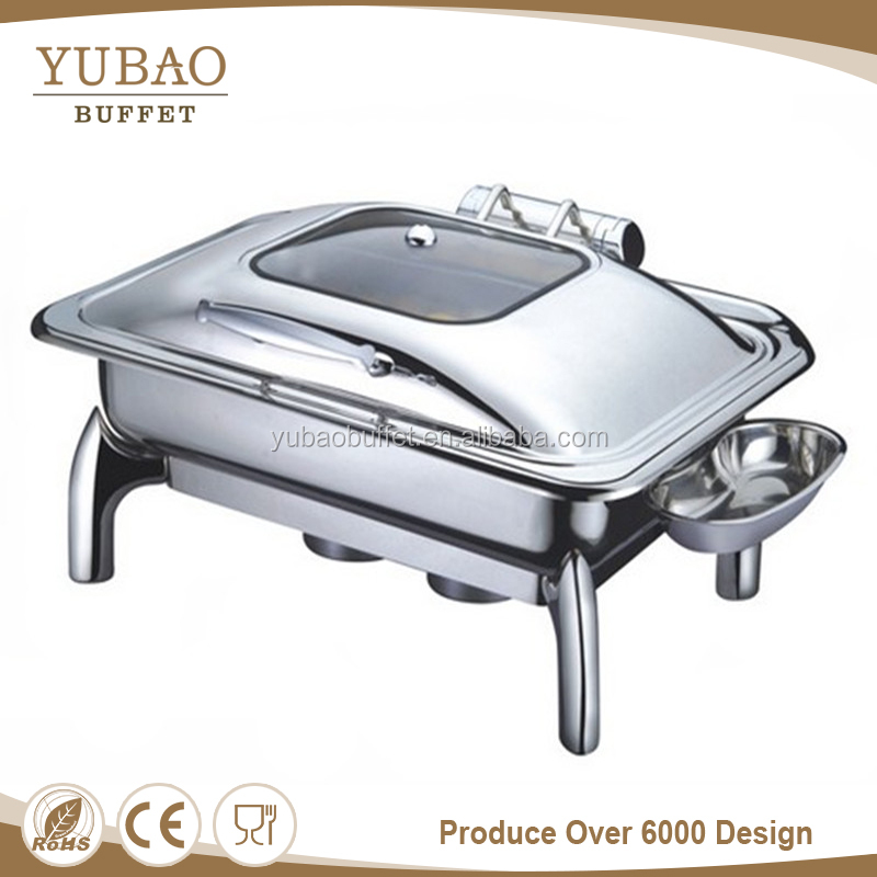 Hotel catering equipment saudi chafer dish buffet brass & copper chafing dish