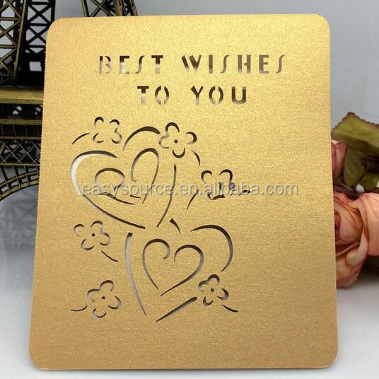 Customized Printable Laser Cut Greeting Cards greeting card HK74