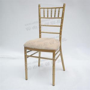 YC-A474 Rental cheap wedding gold chiavari chair with cushion