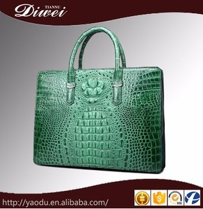 China wholesale crocodile leather handbag for men