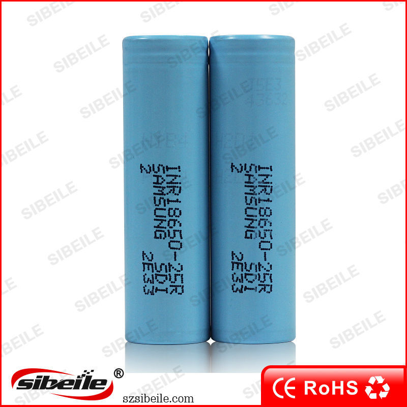Hot Items!!! samsung 35A 18650 2500mAh 3.7v Battery Nickel Cadmium Rechargeable Battery