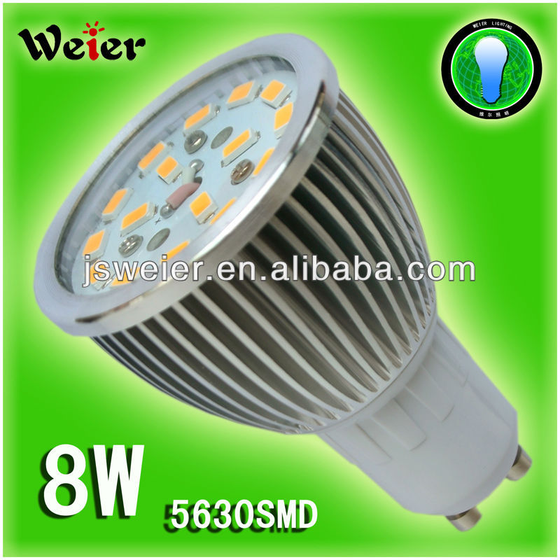 8w base gu10 16leds 5630smd led