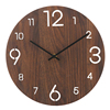12 inch Brown Color Retro Style Silent MDF Fireplace Wall Clock Wood with Laser Hollowing Arabic Numbers manufacturer
