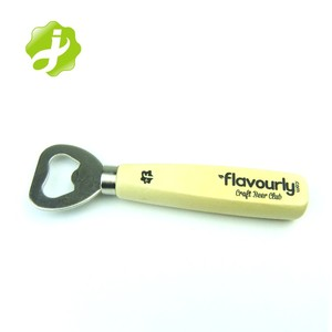 promotion custom bottle opener with wooden handle wholesale