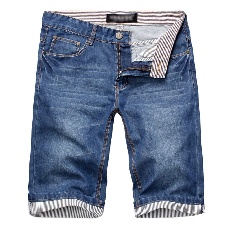 Bansca 2018 Summer Fashion New Men's Casual Denim Shorts/Men's Straight Jeans Shorts