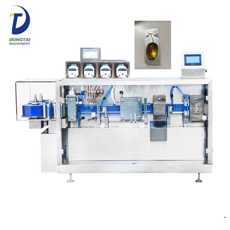 Monodose 10ml 14ml automatic plastic olive oil ampoule forming filling sealing machine