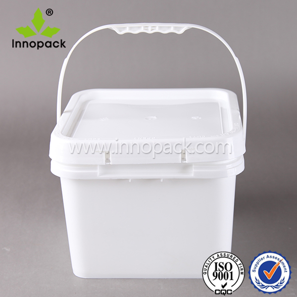 8.0L square paint buckets with lid and metal handle
