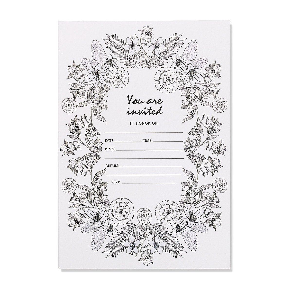 Get Quotations 30 Unique Invitations With Envelopes Elegant Party Invitation Cards Set Wedding Bridal Shower