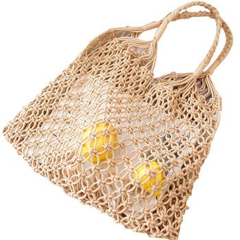 Whole Recycle Straw Bags Crochet Handbags