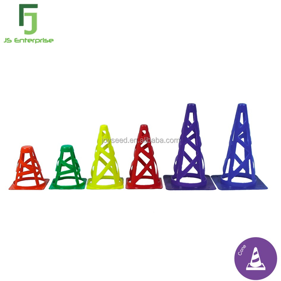 "6""/9""/12"" Colored Pop Up PE Plastic Sports Cone for Football Training"