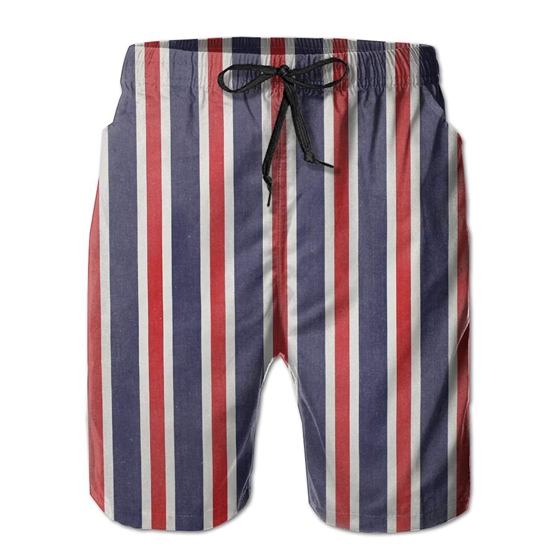af1dbf7cc6 Get Quotations · WANGERSH2 New Red White and Blue Striped Fabrics Men's  Beach Pants,Shorts Beach Shorts Swim