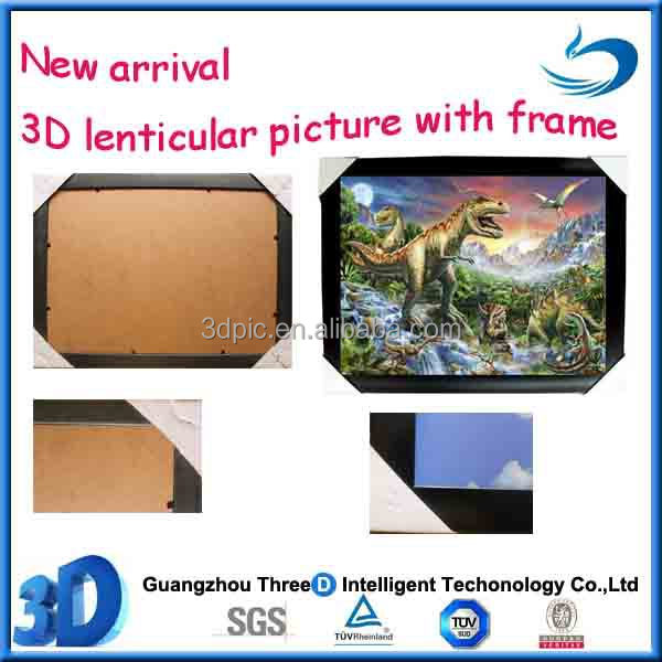 Custom 3d effect dinosaur picture with frame high quality