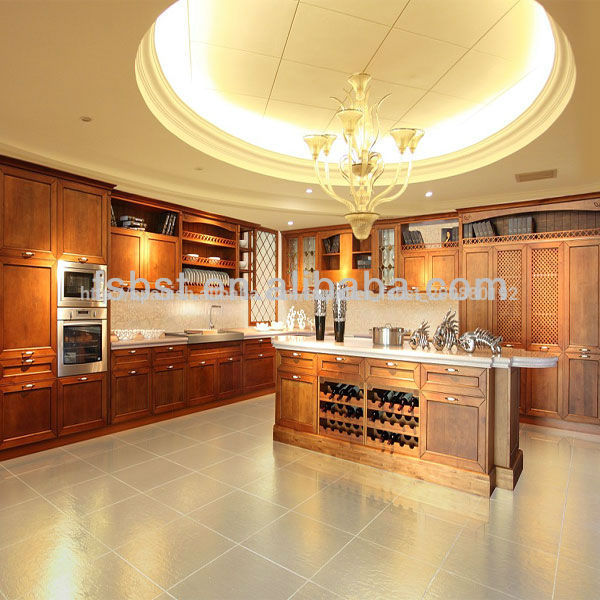 ak427 de lujo de madera sólida del gabinete de cocina de diseño para ...