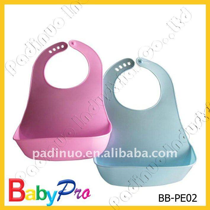 couleur personnalis e logo souple non toxique pe plastique b b bavoirs bavoir b b id de. Black Bedroom Furniture Sets. Home Design Ideas