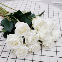 Best selling price 1 head single stem silk artificial flower roses for valentine's Day hot sale