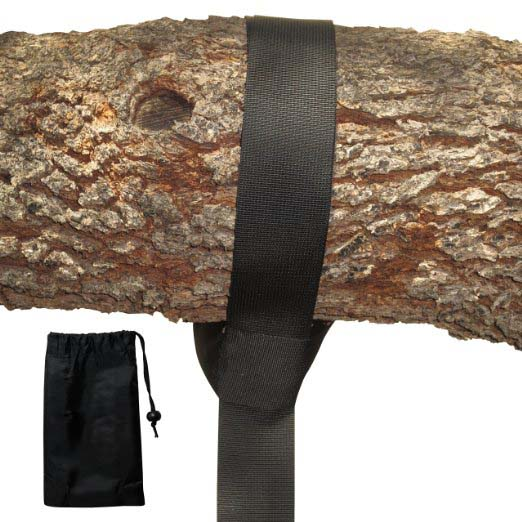 EXTRA LONG (8FT) TREE SWING STRAP - Holds 1000 lbs. - Comes with Instructions - Featuring Heavy Duty Carabiner - Perfect for Tir