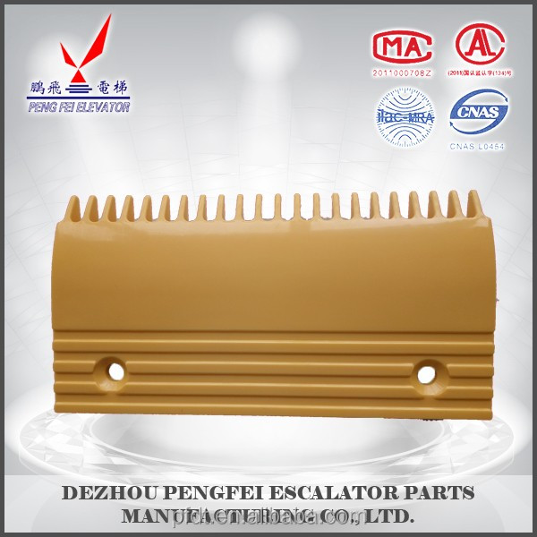 inexpensive and convenient comb plate for elevator parts