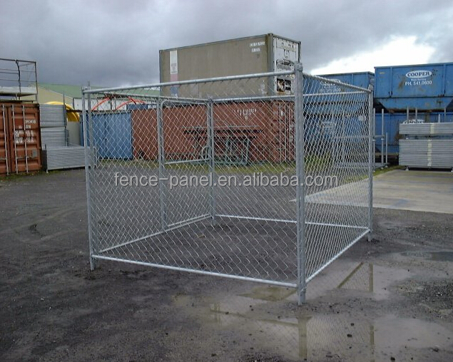 Factory selling 6x10x6 indoor hot dipped galvanized metal double dog kennel