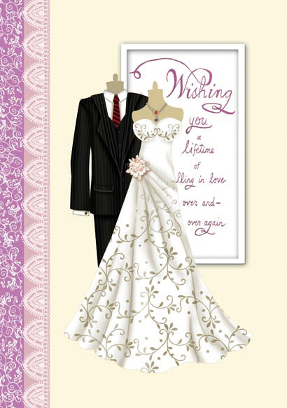 2015 Latest Design Wedding Day Greeting Cards