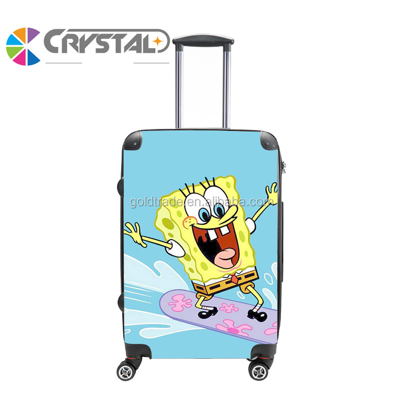 Cabin Size Small suitcase set cute cartoon ABS PC kids hard shell luggage