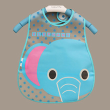Baby Bibs Waterproof Elephant Cartoon Children Bibs Infant Burp Cloths 2015 Brand Clothing Towel