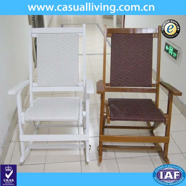High quality wooden rocking parts folding outdoor wooden rocking chair