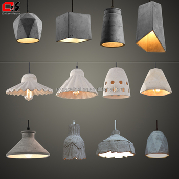 Industrial Cement Lamp Geometric Shade Concrete Pendant Light   Buy  Geometric Light,Concrete Light,Concrete Pendant Light Product On Alibaba.com
