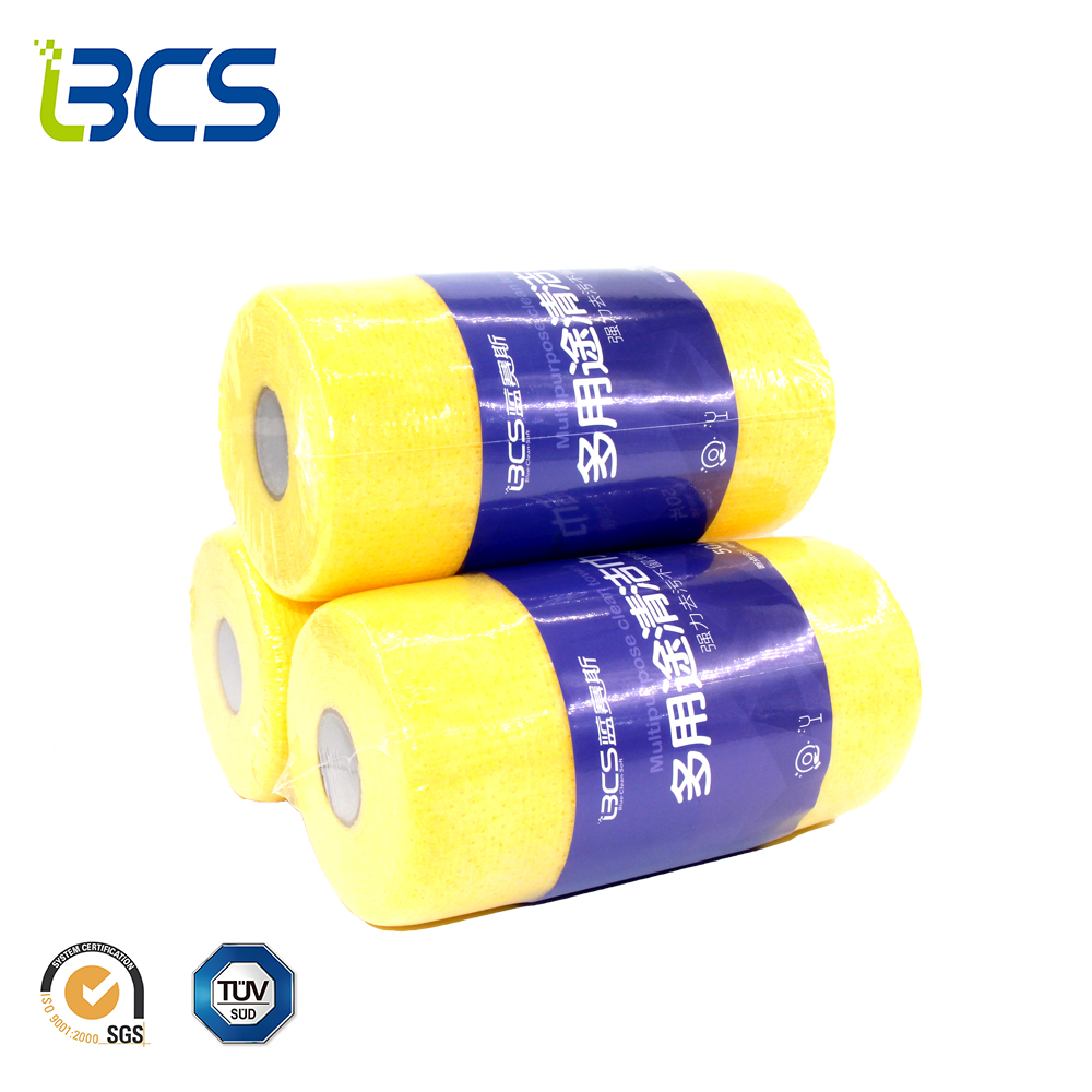 Disposable Breathable Wash Cleaning Microfiber Cloth Roll Kitchen Towel