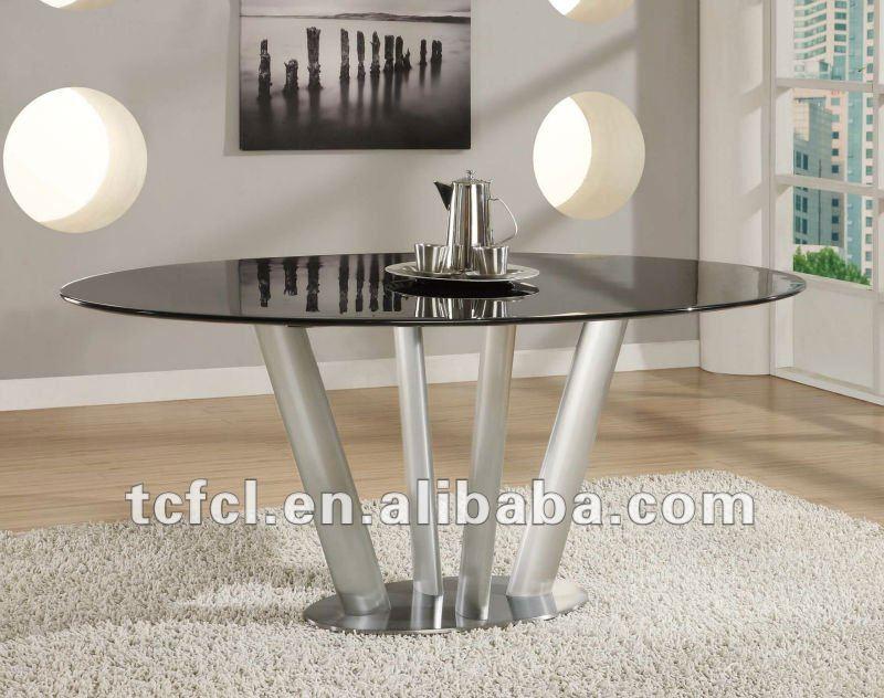 metall esstisch basis, ovale glasplatte esstisch-esstisch-produkt, Esstisch ideennn