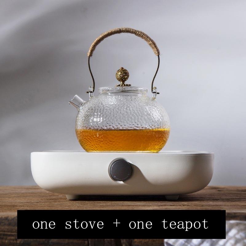 220 В PC электрическая керамическая плита нагреватели Чайник Посуда для напитков китайский чайный набор кунг-фу аксессуары стеклянный чайник...(Китай)