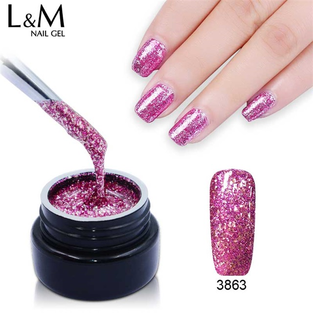 shining glitter nail <strong>gel</strong> polish UV platinum <strong>gel</strong> nail <strong>gel</strong> supplier professional