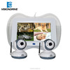 2015 New product 7 inch 4CH baby monitor,mini dvr sd baby camera real-time clock display night vision wireless cctv camera